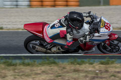 Driver Guillermo Hernandez. Honda CBR250R. Royalty Free Stock Photos