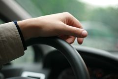 Driver hand Royalty Free Stock Image