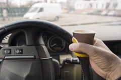 Driver having a break royalty free stock photo