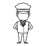 Driver hotel service isolated icon Stock Image