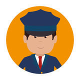 Driver hotel service isolated icon Royalty Free Stock Photography