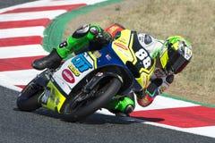 Driver Ieraci, Brunopalazzese. Moto3. TM Racing Team. FIM CEV Repsol Royalty Free Stock Photo