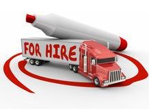 Driver indipendente Owner Operator del camion di noleggio del fuoco illustrazione di stock