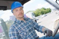 Driver industriale sul lavoro fotografia stock libera da diritti