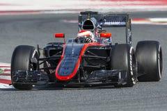 Driver Jenson Button Squadra McLaren Fotografie Stock Libere da Diritti