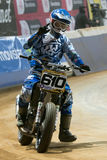 Driver Joonas Kylmakorpi. Dirt Track Superprestigio competition Royalty Free Stock Photos
