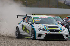 Driver Jordi ORIOLA. SEAT LEON EUROCUP. Royalty Free Stock Image