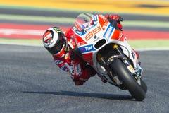 Driver Jorge Lorenzo. Ducati Team. Monster Energy Grand Prix of Catalonia Stock Photos