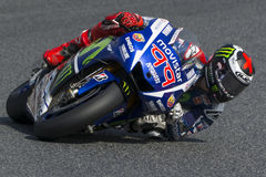 Driver Jorge Lorenzo. Yamaha Team Royalty Free Stock Images