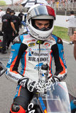 Driver Jorge Navarro Team Machado FIM CEV Repsol Immagine Stock Libera da Diritti