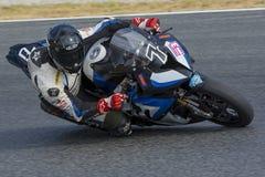 Driver Juan Manuel Ruiz. BMW S1000RR. Stock Images
