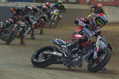Driver Julian Simon. Dirt Track Superprestigio competition Stock Photography