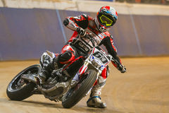 Driver Julian Simon. Dirt Track Superprestigio competition Stock Image