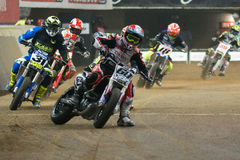 Driver Julian Simon. Dirt Track Superprestigio competition at the Palau Sant Jordi. Stock Photos