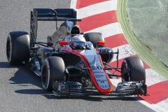 Driver Kevin Magnussen Team McLaren F1 Fotografia Stock