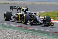 Driver Kevin Magnussen. Team Renault Royalty Free Stock Photos