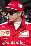 Driver Kimi Raikkonen. Team Ferrari. Royalty Free Stock Photography