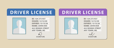 Driver licenses Royalty Free Stock Image