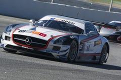 Driver MANUEL DA COSTA. Mercedes SLS AMG GT3. International GT Open. Royalty Free Stock Photo