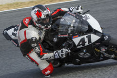 Driver Manuel Santiago. BMW S1000RR. Royalty Free Stock Photos