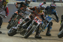 Driver Marc Marquez. Dirt Track Superprestigio competition at the Palau Sant Jordi Royalty Free Stock Photography
