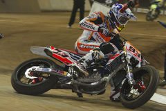 Driver Marc Marquez. Dirt Track Superprestigio competition at the Palau Sant Jordi Stock Photos