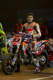 Driver Marc Marquez. Dirt Track Superprestigio competition at the Palau Sant Jordi Stock Photography
