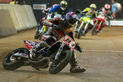 Driver Marc Marquez. Dirt Track Superprestigio competition at the Palau Sant Jordi Stock Images