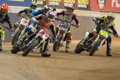 Driver Marc Marquez. Dirt Track Superprestigio competition at the Palau Sant Jordi Stock Photo