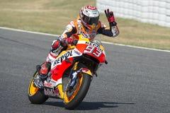 Driver Marc Marquez. Honda Team Stock Photography