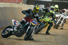 Driver Marcel Schrotter. Dirt Track Superprestigio competition at the Palau Sant Jordi. Royalty Free Stock Images