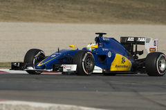 Driver Marcus Ericsson.  Sauber F1 team Royalty Free Stock Photo