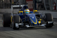 Driver Marcus Ericsson.  Team Sauber F1 Stock Photography