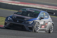 Driver Marie BAUS.  SEAT LEON EUROCUP. International GT Open. Royalty Free Stock Images