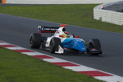 Driver Matthieu Vaxiviere. Formula V8 3.5 Royalty Free Stock Image