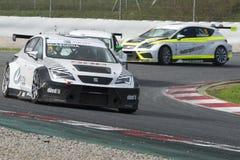 Driver Mikel Azkona. SEAT Leon Eurocup Stock Photo