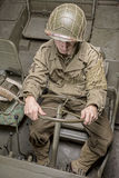 Driver of a military vehicle of World War II Royalty Free Stock Images