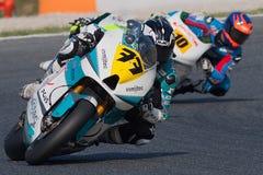 Driver Miquel Pons Team Pons FIM CEV Repsol Immagine Stock Libera da Diritti