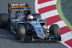 Driver Nico Hulkenberg. Team Force India Royalty Free Stock Photo
