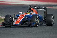 Driver Pascal Wehrlein Team Manor F1 fotografie stock