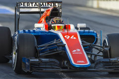 Driver Pascal Wehrlein.  Team Manor F1 Royalty Free Stock Images