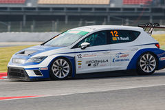 Driver Pol ROSELL. SEAT LEON EUROCUP. Stock Image
