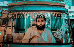 Driver Portrait di Riksha fotografia stock libera da diritti