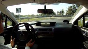 Driver pov stock video footage