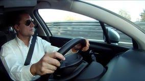 Driver pov stock footage
