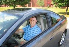 Driver professionale dell'uomo Fotografia Stock Libera da Diritti