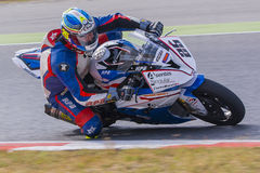 Driver R.Blazquez. BMW S1000RR Royalty Free Stock Photo
