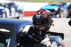 Driver at race start Stock Images