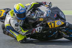 Driver Raul Mendo. BMW S1000RR Stock Photography