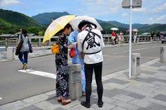 Driver rickshaw presentation about tour around arashiyama city Stock Photo
